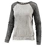 S.OLIVER Langarmshirt Damen weiß/grau