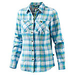 OCK Ladies Cotton Flanel shirt Langarmbluse Damen hellblau