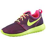 Nike Rosherun Sneaker Damen bordeaux/limette