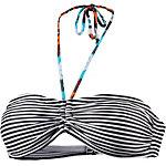 Maui Wowie Bandeau-OT Bikini Oberteil Damen schwarz/weiß