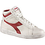Diadora Game L High waxed Sneaker Herren weiß/rot