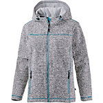 OCK Strick Fleece Membran Strickfleece Damen hellgrau/türkis
