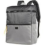Stylisher Rucksack mit kontrastfarbigen Zip-Verlängerungen und praktischen Fächern. anthrazit/grau