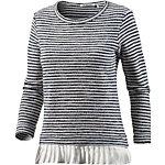 Rich & Royal Layerlangarmshirt Damen marine/weiß