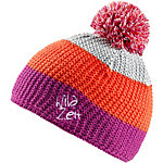 Wildzeit Strickmütze Dreiklang orange-pink-fumo Bommelmütze orange