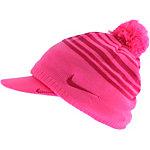 Nike Wmns Winter Knit Set Bommelmütze Damen pink