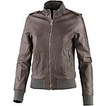 REPLAY Lederjacke Damen dunkelbraun