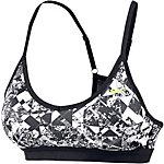 Nike Pro Indy Jewels Sport-BH Damen schwarz/weiß