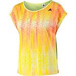 adidas T-Shirt Damen gelb/rot