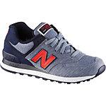 NEW BALANCE ML 574 Sneaker Herren blau/rot