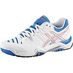 ASICS Gel Challenger 10 Tennisschuhe Damen weiß/silberfarben/blau