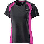 unifit Laufshirt Damen schwarz/pink
