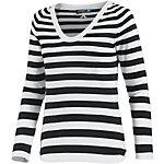J.Lindeberg Amia V-Pullover Damen schwarz/weiß