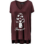 WLD Hearts Forever T-Shirt Damen bordeaux