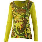 PrimEmotion Printlangarmshirt Damen gelb/lila