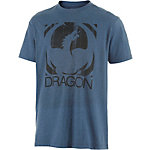 Dragon Big Block Printshirt Herren blau