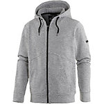WLD Give Speed Hooded Zip Strickfleece Herren graumelange