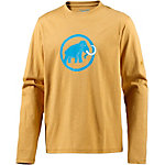Mammut Logo Printlangarmshirt Herren gelb