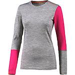 ORTOVOX Unterhemd Damen graumleange/pink