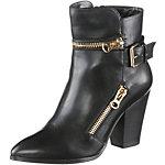 Buffalo Stiefel Damen schwarz/goldfarben