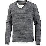 GARCIA 2-In-1 Pullover Herren grau/weiß