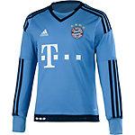 adidas FC Bayern 15/16 Heim Funktionsshirt Kinder hellblau