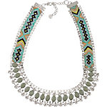 Pieces Halskette Damen silberfarben/hellblau