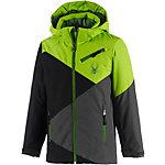 Spyder Skijacke Jungen grün/schwarz/grau