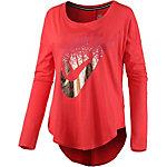 Nike Langarmshirt Damen rot/metallic