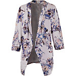 Culture Sweatblazer Damen rose/blau