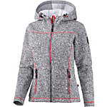 OCK Strick Fleece Membran Strickfleece Damen hellgrau/pink