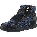 Buffalo Sneaker Damen schwarz/blau