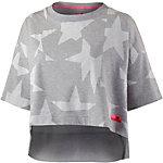 adidas Funktionsshirt Damen grau/weiß