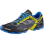 SALEWA MS Lite Train Mountain Running Schuhe Herren schwarz/blau/gelb