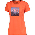 Jack Wolfskin Sunset Mountain Printshirt Damen orange
