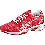 ASICS Gel Solution Speed 2 Clay Tennisschuhe Damen hibiskus/silberfarben/weiß