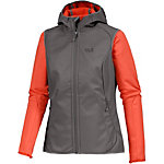 Jack Wolfskin Roller Coaster Fleecejacke Damen grau/orange