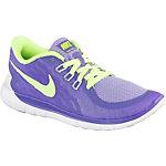 Nike Free 5.0 Laufschuhe Mädchen lila/neongrün