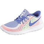 Nike Free 5.0 Laufschuhe Mädchen weiß/blau/koralle/neongrün