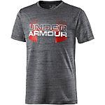 Under Armour T-Shirt Jungen schwarz/rot