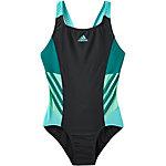 adidas Badeanzug Mädchen schwarz/grün
