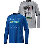 Quiksilver Twin Garden Langarmshirt Herren graumelange/blau