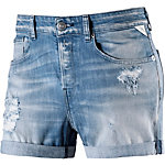 REPLAY Shorts Damen blue destroyed denim