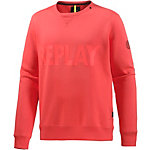 REPLAY Sweatshirt Herren orange/rot