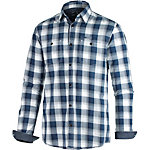 TOM TAILOR Langarmhemd Herren blau / weiß