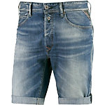 REPLAY Jeansshorts Herren blue denim