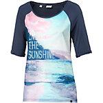 TIMEZONE Oversize Shirt Damen dunkelblau/bunt