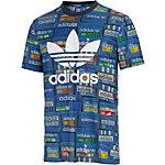 adidas Printshirt Herren blau/bunt