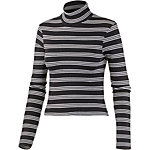 all about eve Langarmshirt Damen schwarz/weiß