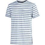 M.O.D T-Shirt Herren blau/weiß